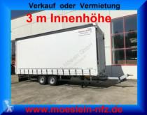 reboque Möslein TP 11-3 Tandem- Schiebeplanenanhänger 3 m Innenh
