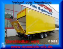reboque Möslein Tandem Koffer mit Ladebordwand 1,5 t und Durchl