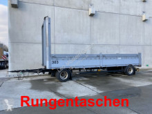 remolque Schwarzmüller 2 Achs Jumbo- Pritschenanhänger mit Rungentasch