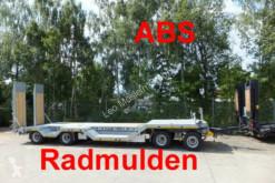 Möslein 4 Achs Tieflader mit Radmulden, ABS heavy equipment transport