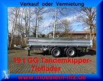 remolque Möslein 19 t Tandem- 3 Seiten- Kipper Tieflader-- Neufa