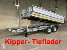 rimorchio Möslein Tandem Kipper Tiefladermit Bordwand- Aufsatz--