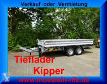 remorque Möslein 13 t Tandem 3- Seitenkipper Tieflader-- Neufahr