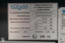 Zobaczyć zdjęcia Przyczepa Tandem KONAR - / 1 OŚ / FIRANKA / ŁAD. 6500 KG