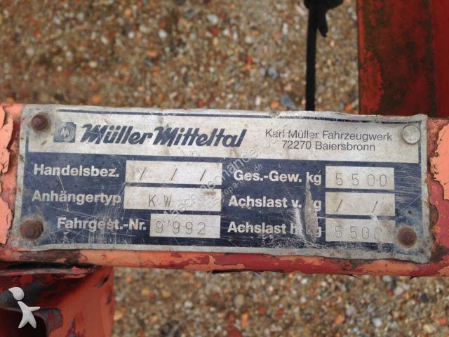 Used Müller-Mitteltal other trailers Kabeltransportanhänger ...