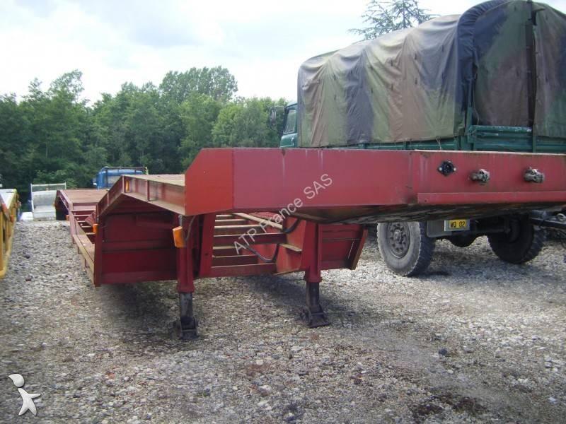 Remorque titan plateau porte engins agricole 2 essieux - Remorque porte engin agricole occasion ...