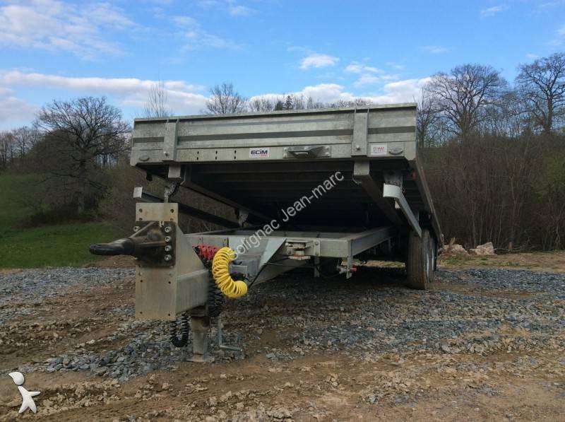 Remorque ecim porte engins 11 tonnes 2 essieux occasion for Porte engin 60 tonnes