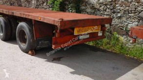 View images Netam Two axle trailer with twist locks on springs suspension trailer