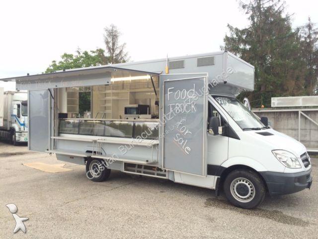 used mercedes van sprinter food truck gastro truck. Black Bedroom Furniture Sets. Home Design Ideas