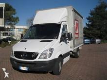 Mercedes tarp covered bed flatbed van