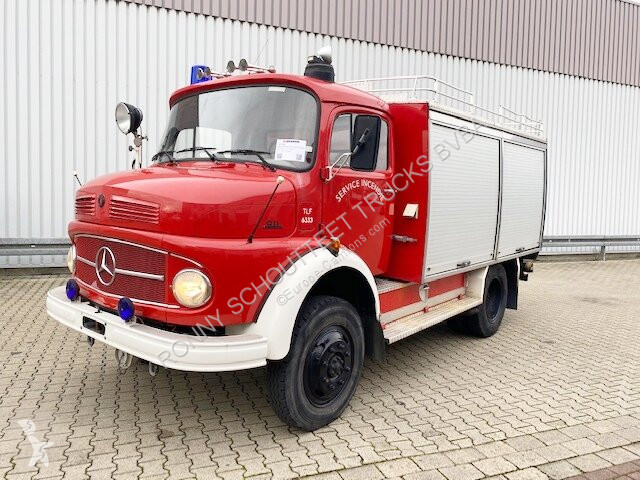 Преглед на снимките Лекотоварен автомобил Mercedes LAF 911 4x4 Feuerwehr  Doppelsitzbank