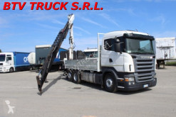 camion Scania R 500 CASSONE FISSO CON GRU POSTERIORE