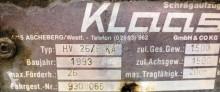 Voir les photos Véhicule utilitaire nc KLAAS HV 26/6 KA, Schrägaufzug, Dachdeckeraufzug