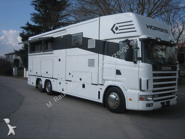 van chevaux scania pferdetransporter occasion n 973140. Black Bedroom Furniture Sets. Home Design Ideas