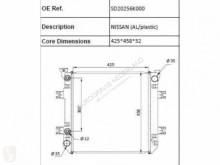 Nissan Radiateur de refroidissement du moteur pour camion (AL/PLASTIC)