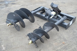 nc 2019 Hydraulic Auger c/w 2 Bits to suit Skidsteer Loader neuf